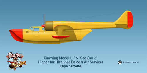 Baloo's Conwing L-16 Sea Duck - Disney's Talespin by comradeloganov