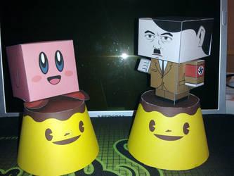 Kirby, Adolf, and Puddi hangin by SaintAnlay