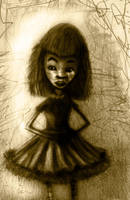 Zola - sketch altered in PS by TheSolitaryReaper