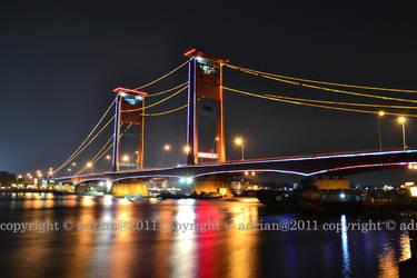 Jembatan Ampera Malam by FajriTheDreamer