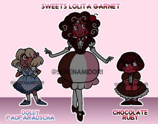 Gem Fusion Auction: Sweets Lolita Garnet [CLOSED] by serenamidori