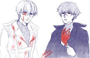 Arima Kishou and Kaneki Ken by MorriSuki