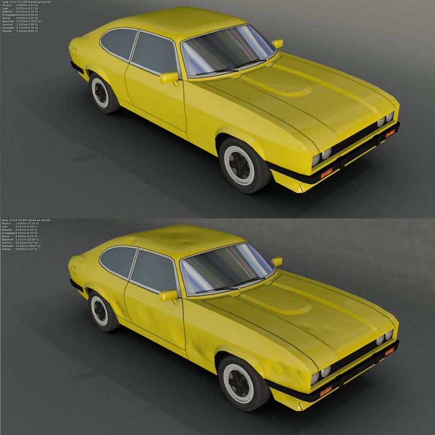 Ford Capri Game model for BGE by wasteofammo