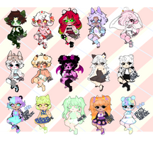 (Open) #19-33 Mochibis Adopt Batch by obbscure