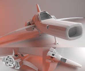 Space fighter model by TangoOscarMik3