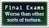 Final Exams Stamp by Pseudinymous