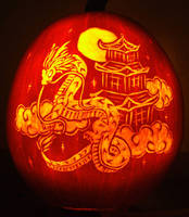 Dragon Pumpkin Carving 06 by Ciarra