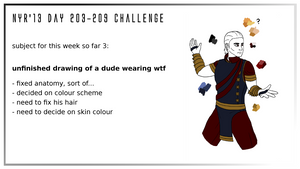 NYR'13 day 203-209 CHALLENGE - WIP3 by Deimonian