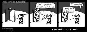Random Volitations 58 - The sky is falling! by Deimonian
