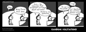 Random Volitations 66 - Priorities by Deimonian