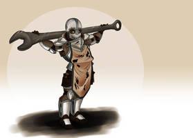 Randomizer sketch 1 - Heavy wrench guy by Deimonian
