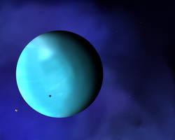 Randomizer sketch 2 - Planet with moon by Deimonian