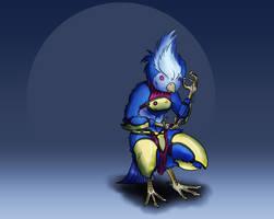 Randomizer sketch 5 - Warrior bird by Deimonian