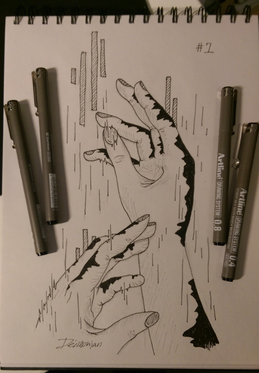 inktober #1 by Deimonian