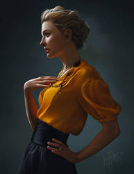 Color Study of Cate by GunnerGurl