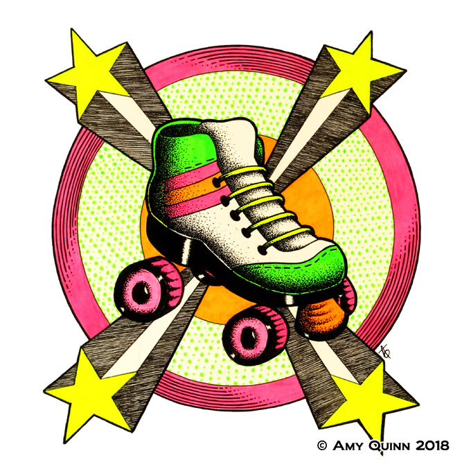 80s Roller Skate by KemicalReaxion