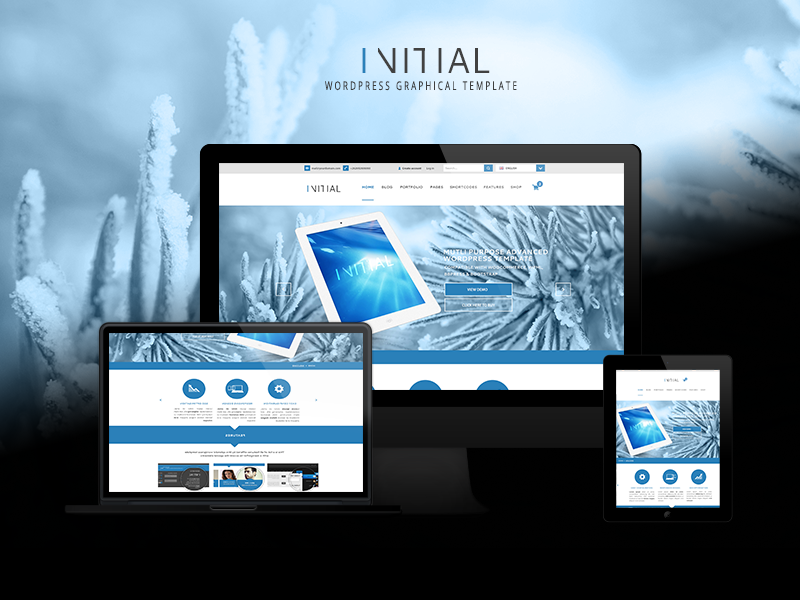 Initial - Wordpress template by yiolo
