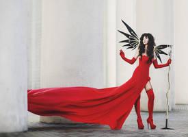 Winged singer by Mitsuno-Queen-Sonoko
