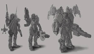 Female Armor Variant 1 WiP by psypher101