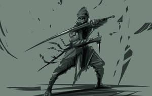 Ninja Sketch by psypher101