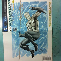 Aquaman sketch cover by danielhdr