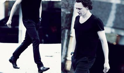 Tom Hiddleston - On the street by engolir