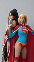 Supergirl and wonder woman by LeslieSalas