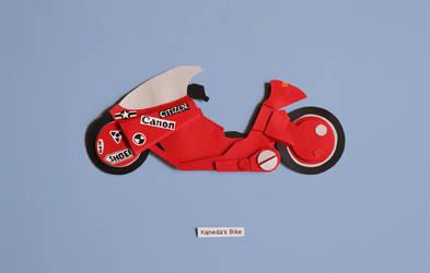 akira - Kaneda's bike papercut by christophosaure