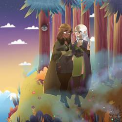 Arwen and Elisabeth commission by Lemanntim