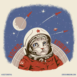 Soviet Spacecat by sketchboy01