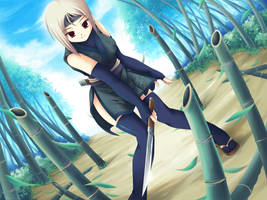 Fuyutsuki Rei +bamboo forest+ by maxwindy