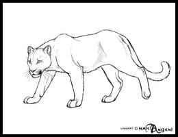 Free lineart-Feline by makangeni