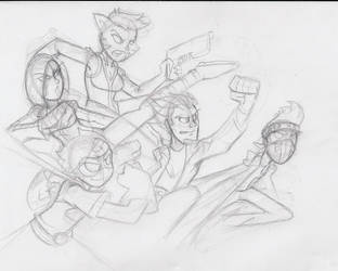 Young Guardians WIP by Diseased-Crab
