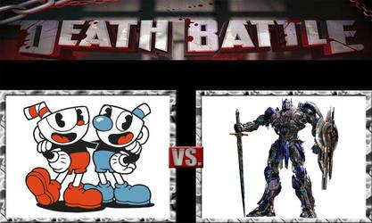 Death Battle Ideas 242 Cupbros Vs Optimus Prime by kouliousis