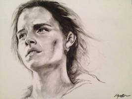 Hermione Charcoal Drawing by Sampl3dBeans