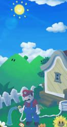 Super Mario Sunshine by LargeStupidity