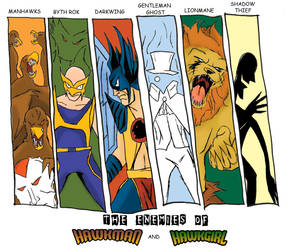 The Enemies of Hawkman and Hawkgirl by WibbitGuy