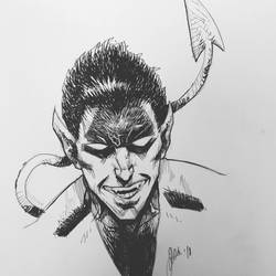 Nightcrawler Sketch by ArtisticSchmidt