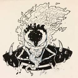 Venomized Ghost Rider by ArtisticSchmidt