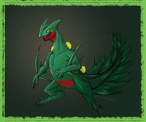 GRASS-TYPE :: Sceptile (Pokemon) by kitxunei