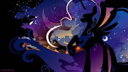 Luna Silhouette Wall - Black by SambaNeko
