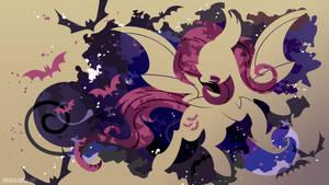 Flutterbat Silhouette Wall by SambaNeko