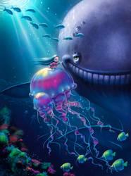 Underwater Escape by Sabinerich