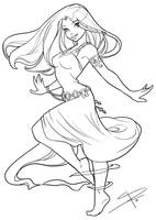 Dancing and flowing by Sabinerich