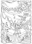Underwater fun (coloring page) by Sabinerich