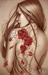 Rose tattoo colored by Sabinerich