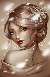 Winter Geisha by Sabinerich