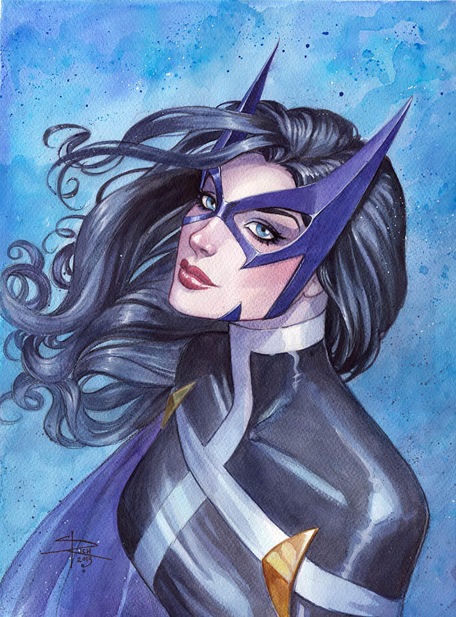 Huntress watercolor by Sabinerich