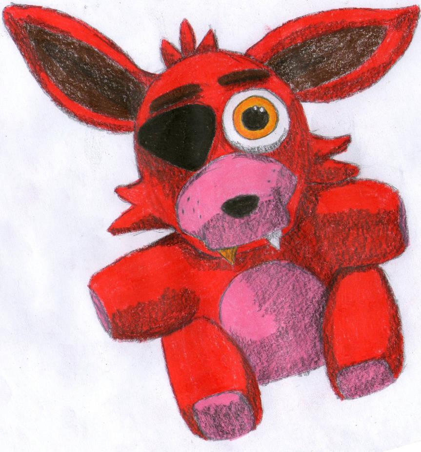 How To Draw Foxy Plushie Step By Step