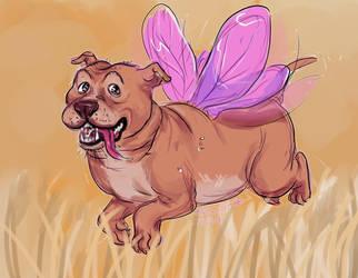 Fairy goddoggo by AntosEscape
